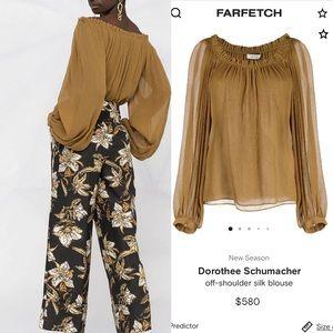 $580 Dorothee Schumacher Silk Blouse